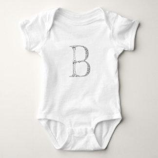 Body Initiale d'os de la lettre B