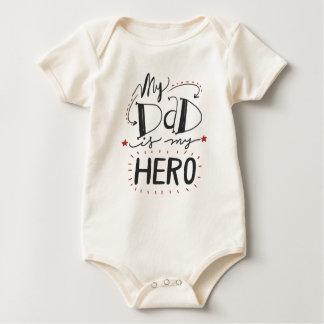 Body Inspiré mon papa est ma combinaison du héros |