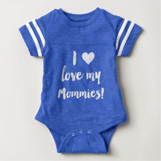 Body J'aime ma chemise du Jersey de bébé bleu de mères
