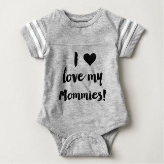 Body J'aime ma chemise du Jersey de bébé de mères