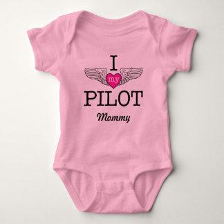 Body J'aime ma maman pilote avec des ailes graphiques