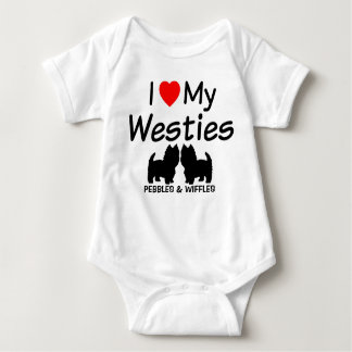 Body J'aime mes deux chiens de Westie