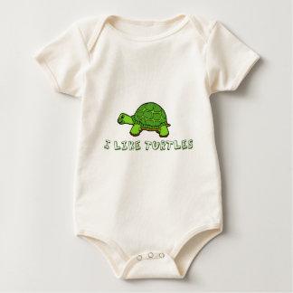 Body J'aime mignon vert de tortues