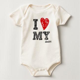 """Body """"Je chemise personnalisable de bébé aime mon _"""""""