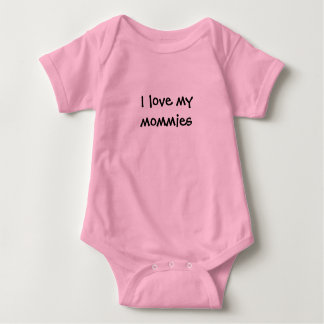"""Body """"Je combinaison de bébé aime mes mères"""""""