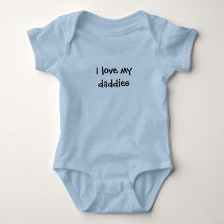 """Body """"Je combinaison de bébé aime mes papas"""""""