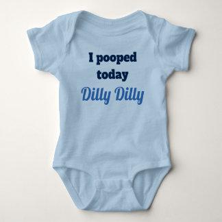 Body Je pooped aujourd'hui la chemise de bébé de Dilly