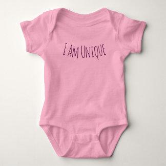 Body Je suis combinaison rose unique de bébé