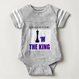 Body Je suis la combinaison de gris du Roi Baby Jersey