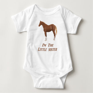 Body Je suis l'habillement de cheval de petite soeur