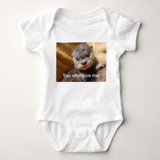 Body Jersey de nourrisson de chiot de loutre de bébé