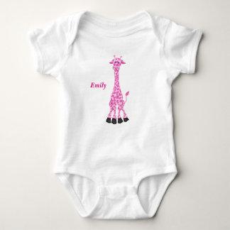 Body La girafe rose mignonne de l'enfant