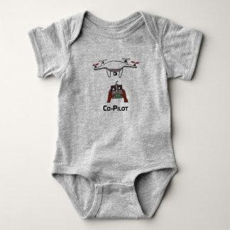 Body La salopette d'onsie de bébé de co-pilote de