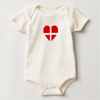 Body La Suisse/Suisse Drapeau-A inspiré des coeurs