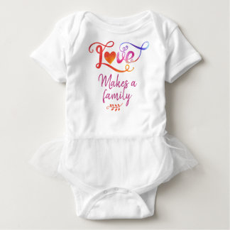 Body L'amour fait une famille, cadeaux d'adoption