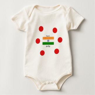 Body Langue Tamoule et conception de drapeau de l'Inde