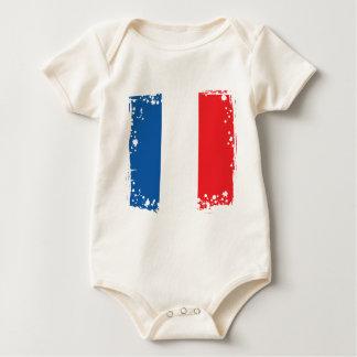 Body Le drapeau de la France, Français colore le tissu