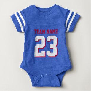 Body Le football royal Jersey de bébé de rouge bleu