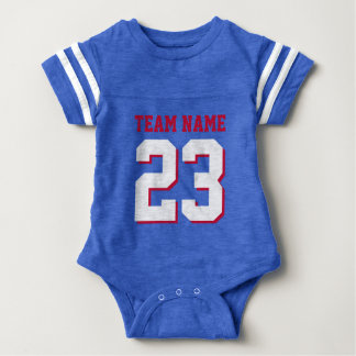 Body Le football royal Jersey de bébé de rouge bleu
