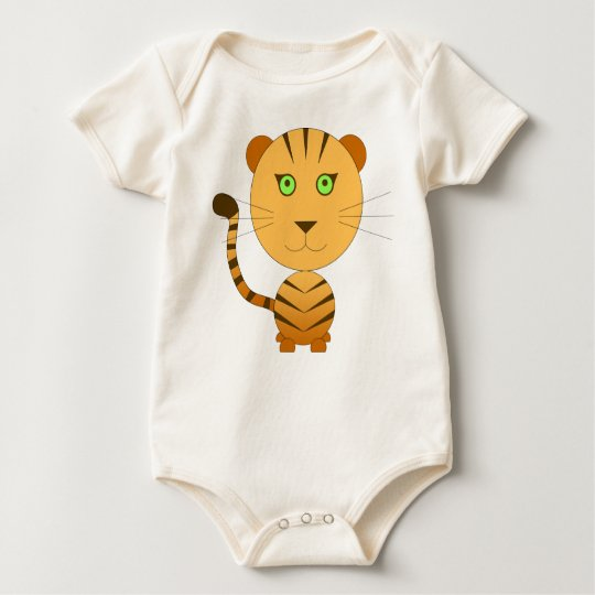Body le tigre jungle idée cadeau bébé orange vert