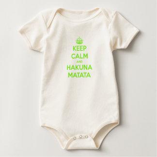 Body Le vert gardent le calme et le Hakuna Matata
