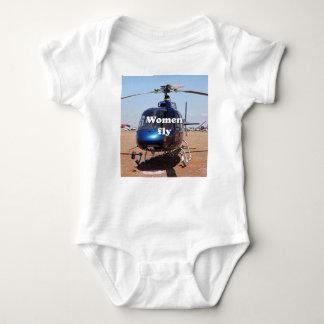 Body Les femmes volent : hélicoptère bleu