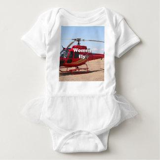 Body Les femmes volent : hélicoptère rouge