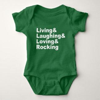 Body Living&Laughing&Loving&ROCKING (blanc)