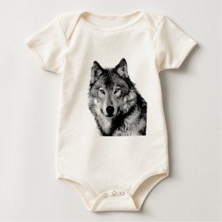 Body Loup noir et blanc