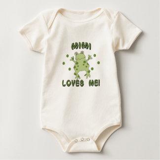 Body Mimi m'aime grenouille