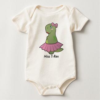 Body Mlle T-Rex Organic Bodysuit de dinosaure de bébé