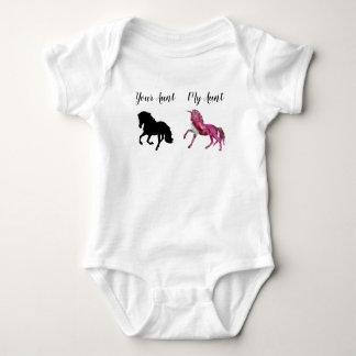 Body Mon bébé de salopette de tante Your Unicorn Horse