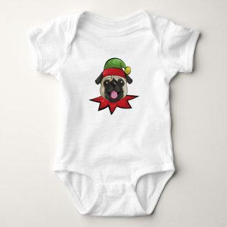 Body Noël drôle d'Elf de combinaison du Jersey de bébé