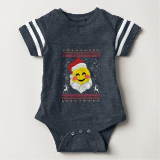 Body Noël laid souriant d'Emoji d'étreinte de Père Noël