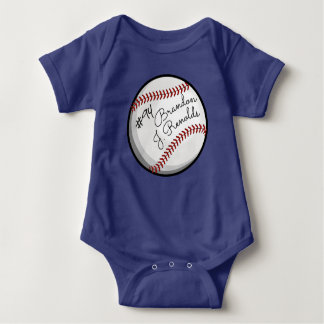 Body Nom customisé par base-ball signé