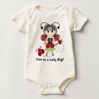 Body Nourrisson et bébé mignons en tant que Madame Bug