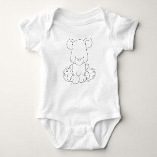 Body Ours de bébé - colorez-le vous-même - combinaison