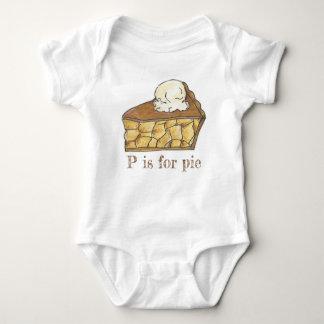 Body P est pour la tranche d'Apple de tarte un alphabet
