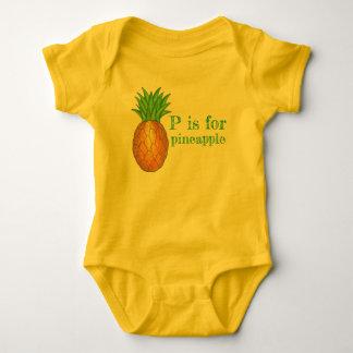 Body P est pour le fruit tropical d'ananas d'île