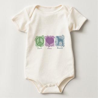 Body Paix, amour, et plante grimpante en pastel de bébé