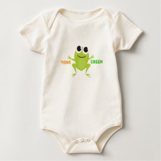 "Body ""Pensez"" la grenouille mignonne verte"