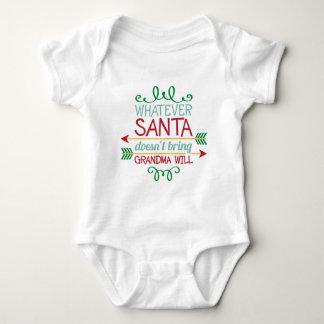 Body Père Noël et la grand-maman expriment la