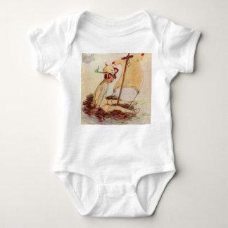 Body Peter Pan vintage avec du charme sur le radeau de