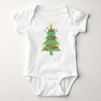 Body Petit dessus de bébé de l'aide de Père Noël