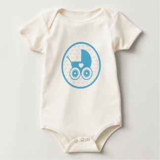 Body Plante grimpante d'icône de landau de bébé bleu