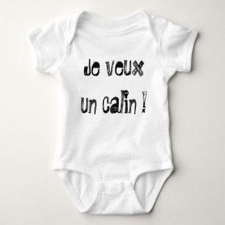 """Body pour bébé """"Je veux un calin !"""" by REN"""