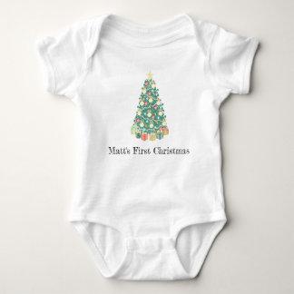 Body Première combinaison de Noël, mon premier Noël,