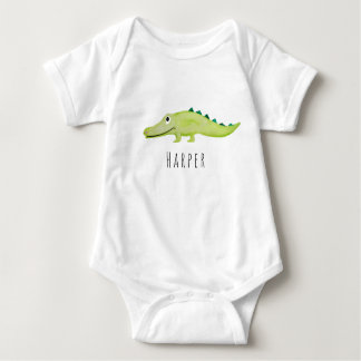 Body Safari unisexe mignon de crocodile d'aquarelle