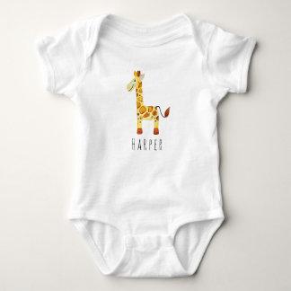 Body Safari unisexe mignon de girafe d'aquarelle avec