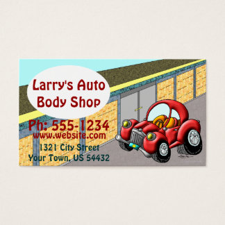 Body Shop automatique Cartes De Visite